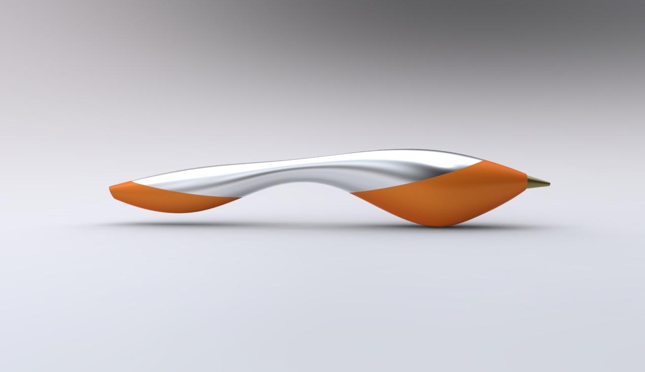 Orange table lamp - Penna Ergonomic Pen By Daria Shashorina At Coroflot Com