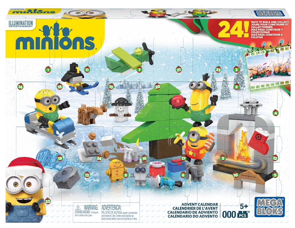 les minions calendrier de l 39 avent by fabien vesseron at. Black Bedroom Furniture Sets. Home Design Ideas