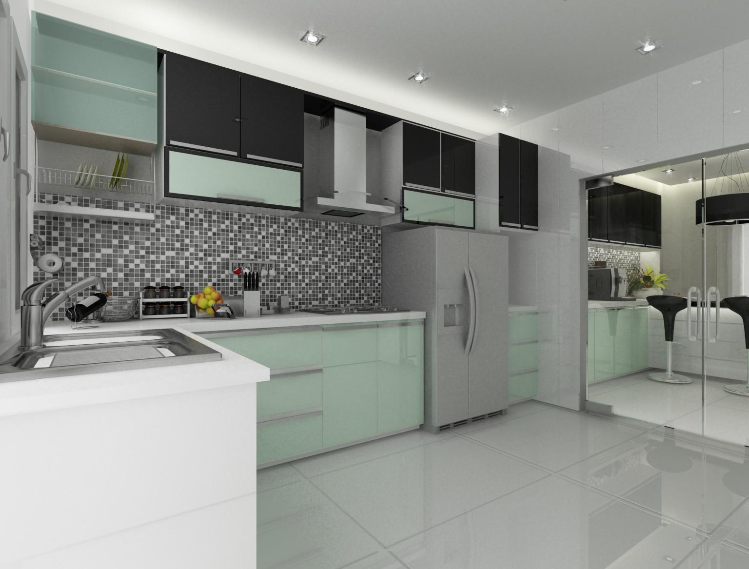 Modern Dry Kitchen Kip Park Terrace House Design By Doidoi Yap At Coroflot  Com . Modern Dry Kitchen ...