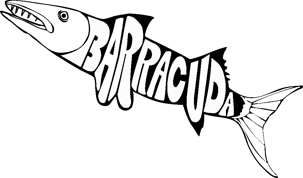 how to draw a barracuda