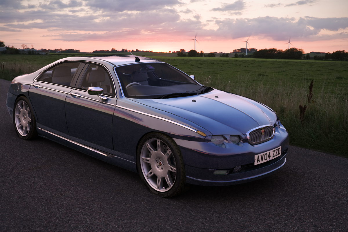 2010 rover 75 prototype using ffd in max by luke westwood at. Black Bedroom Furniture Sets. Home Design Ideas
