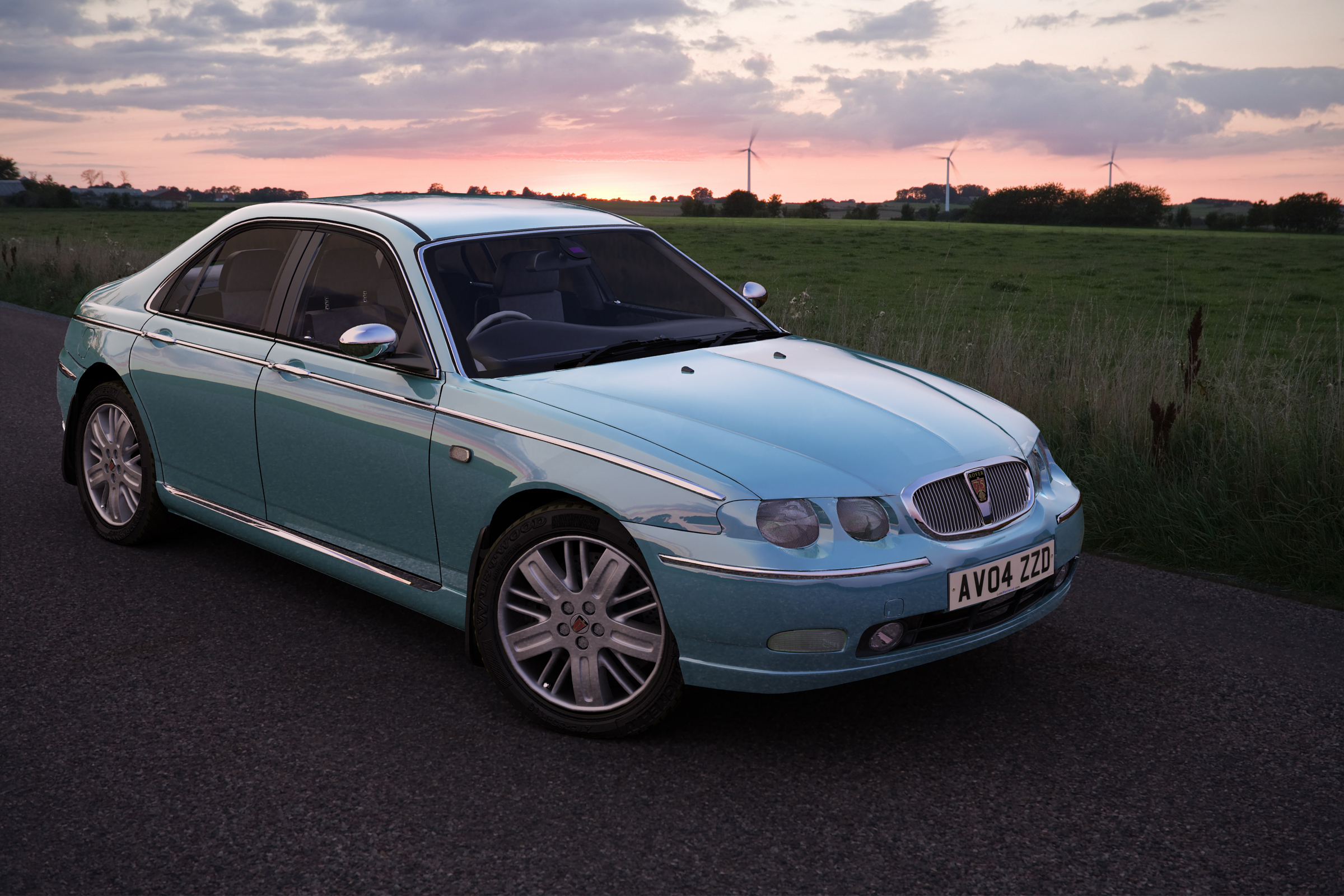 2010 rover 75 visualisation high poly by luke westwood at. Black Bedroom Furniture Sets. Home Design Ideas
