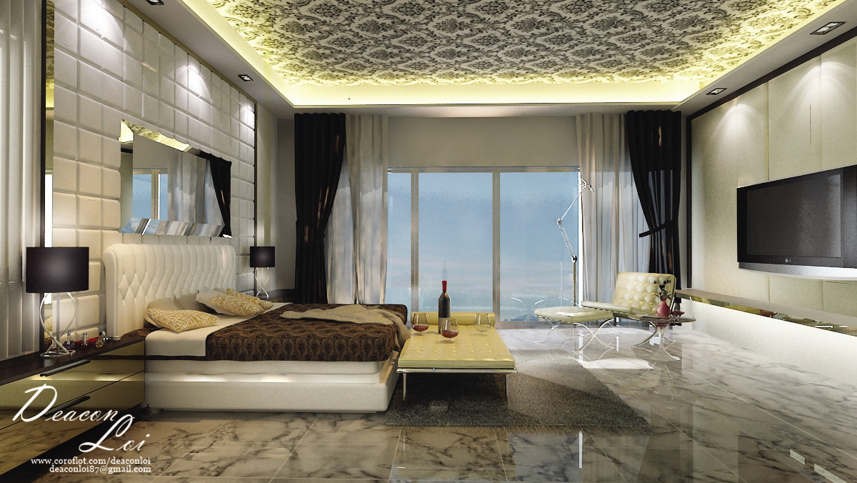 Master Bedroom 3d Design super pent house design at binjal klccmt loi at coroflot