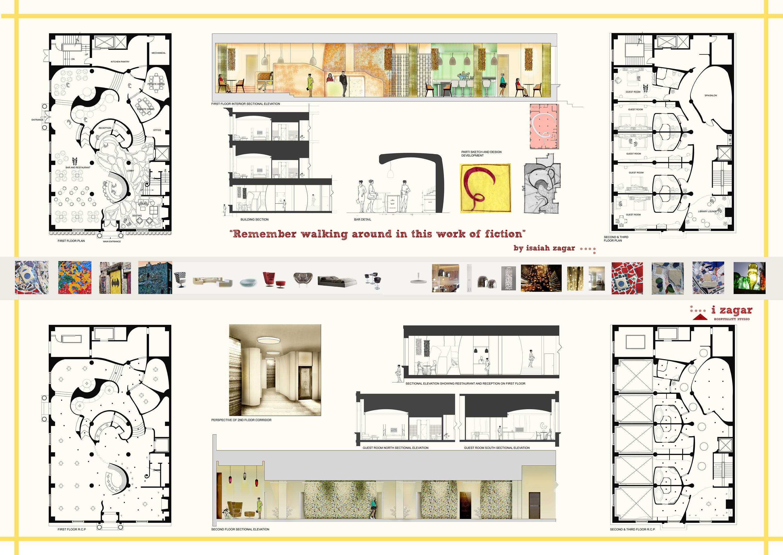 Student interior design portfolio examples