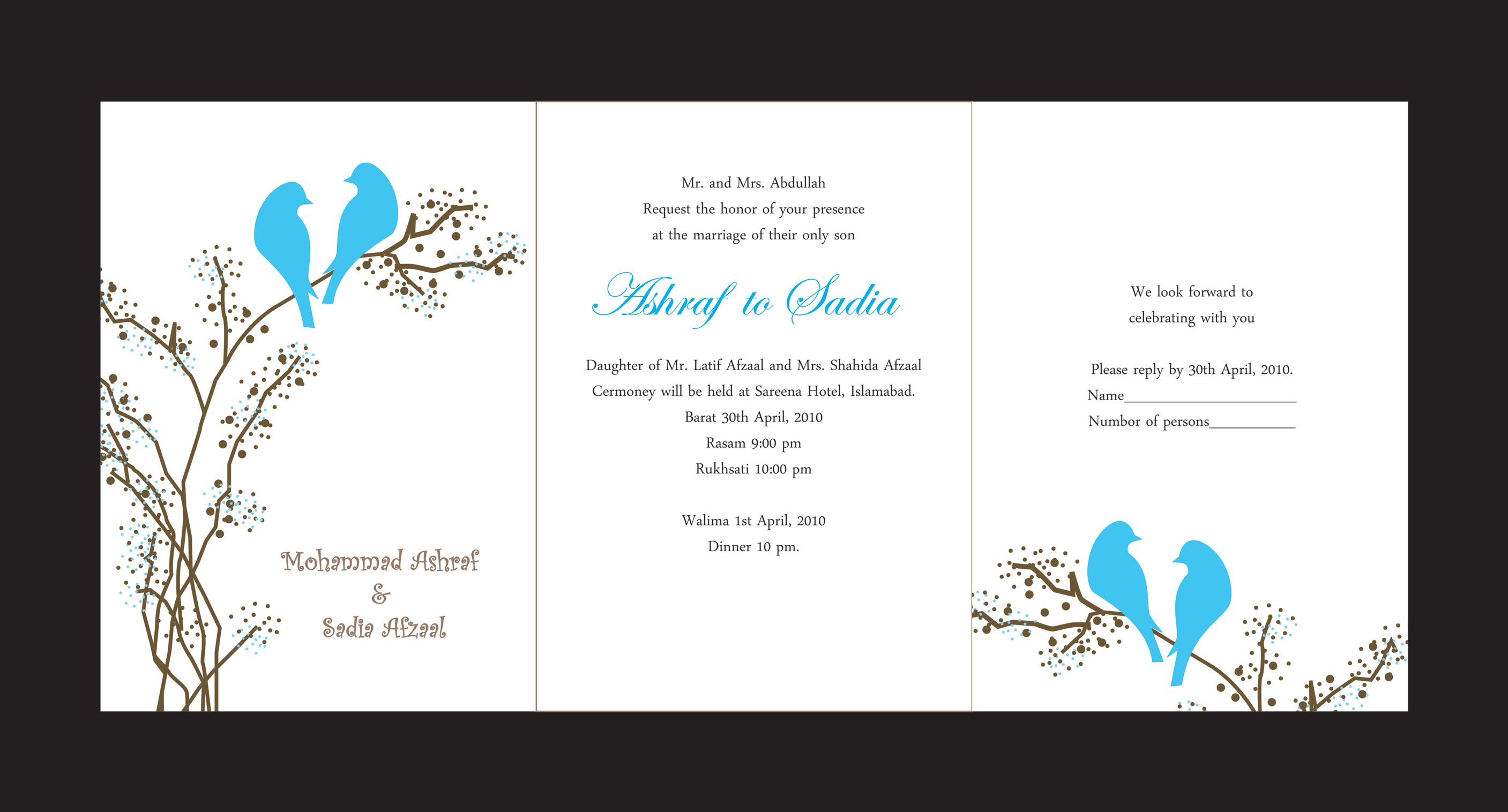 Wedding Cards by Ansar mahmood at Coroflot.