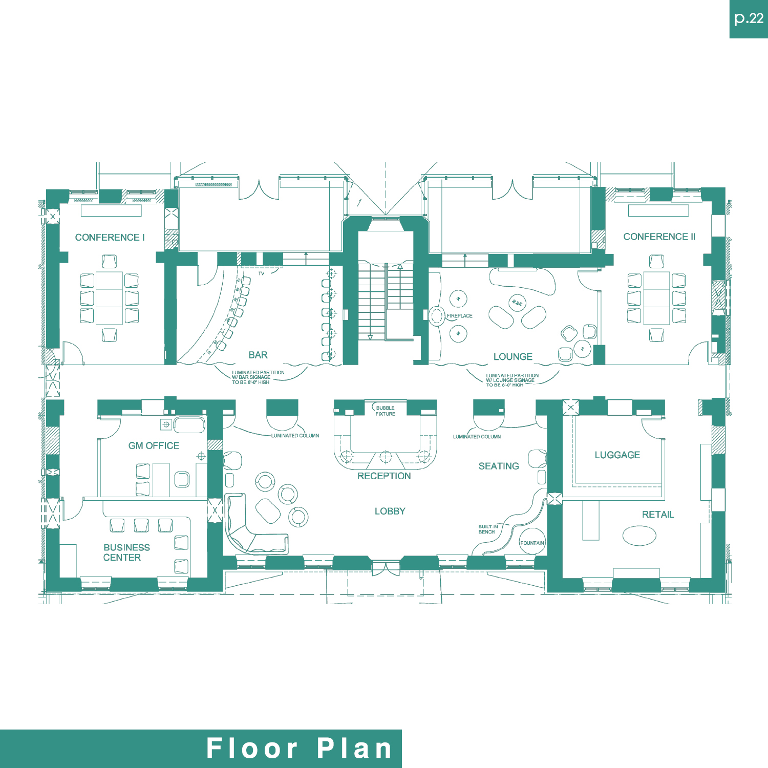 Hotel lobby floor plans images for Floor plan blueprint