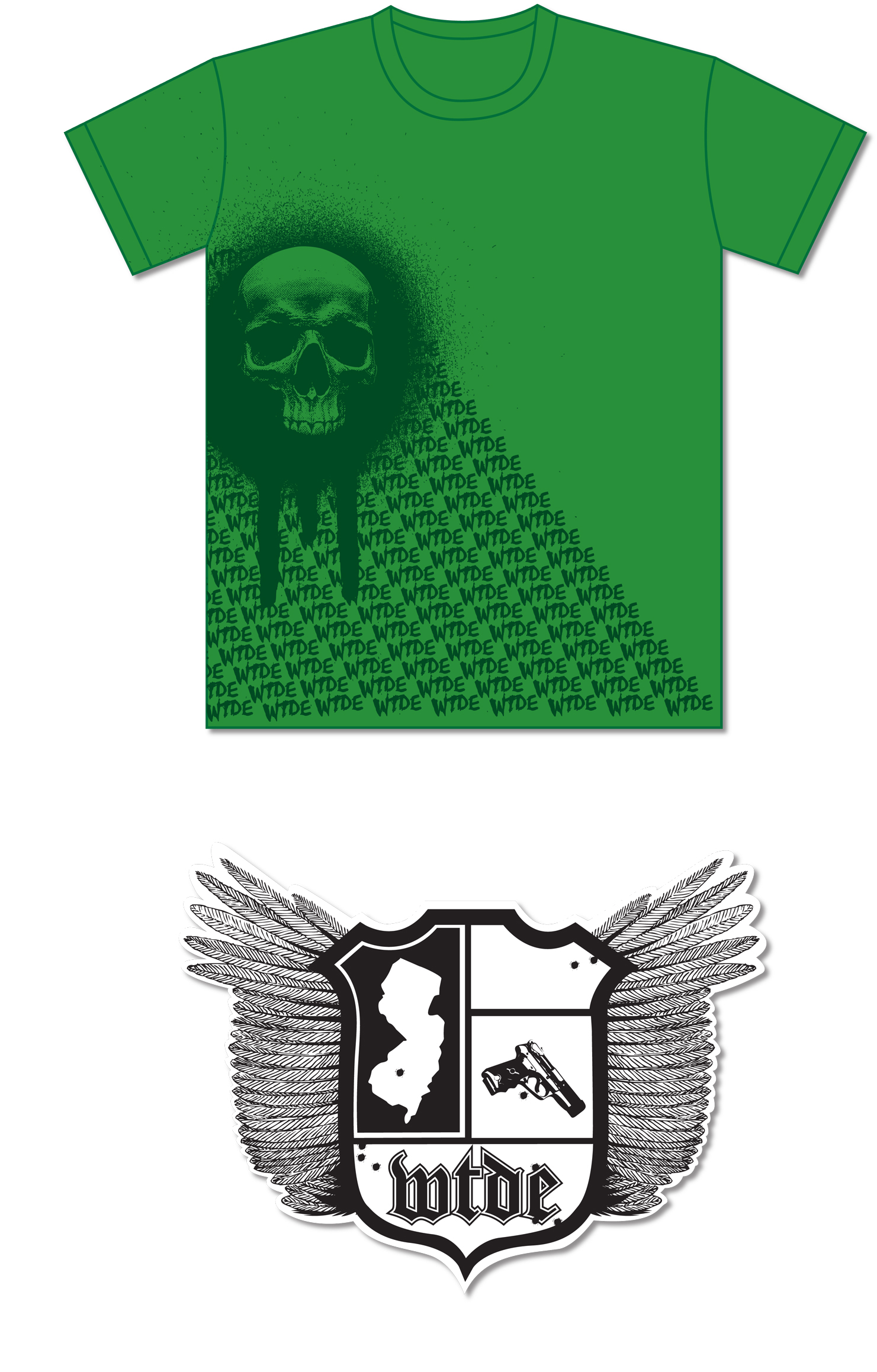 Shirt design green - When These Days End T Shirt T Shirt Design And Sticker Design For The Band When These Days End
