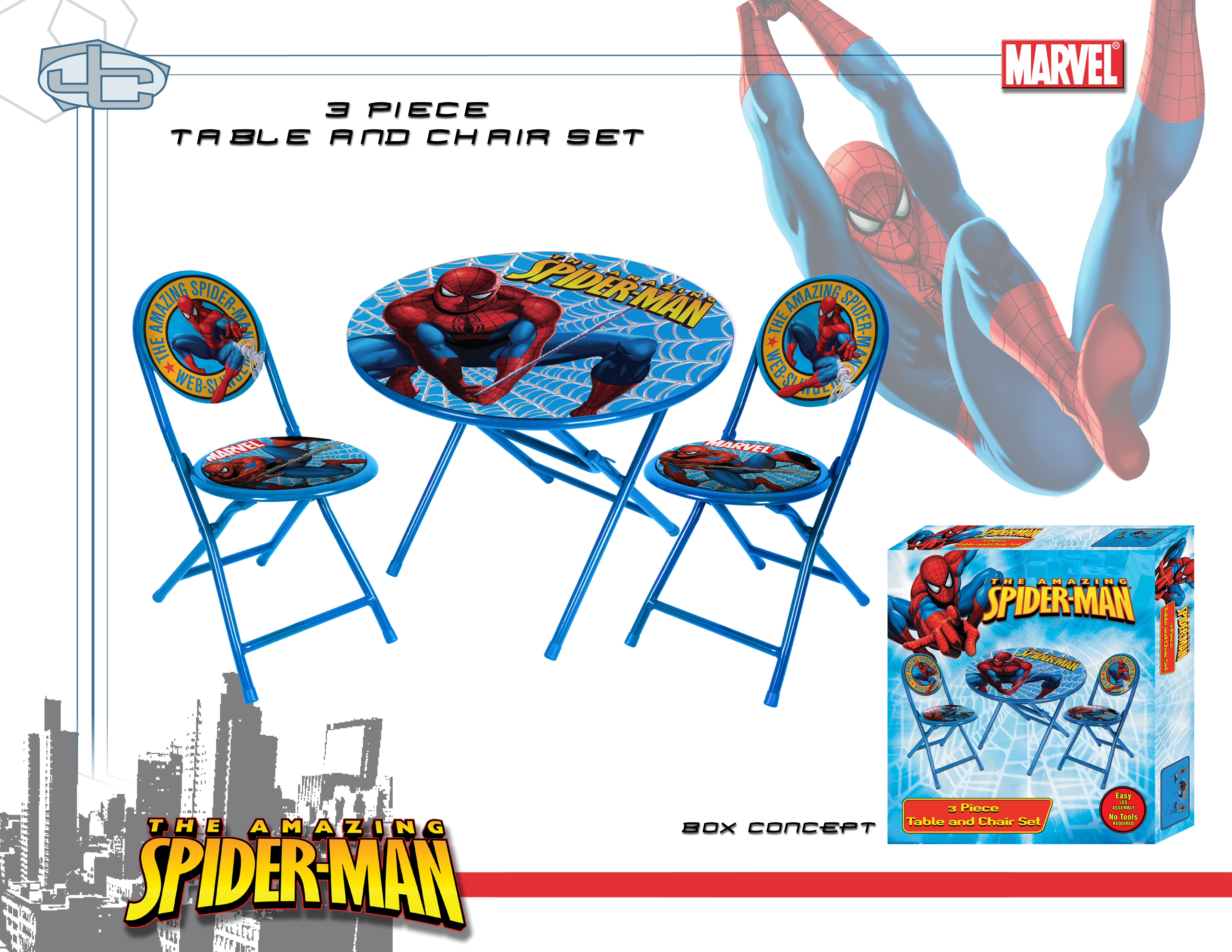 Table spiderman - Table et chaise spiderman ...
