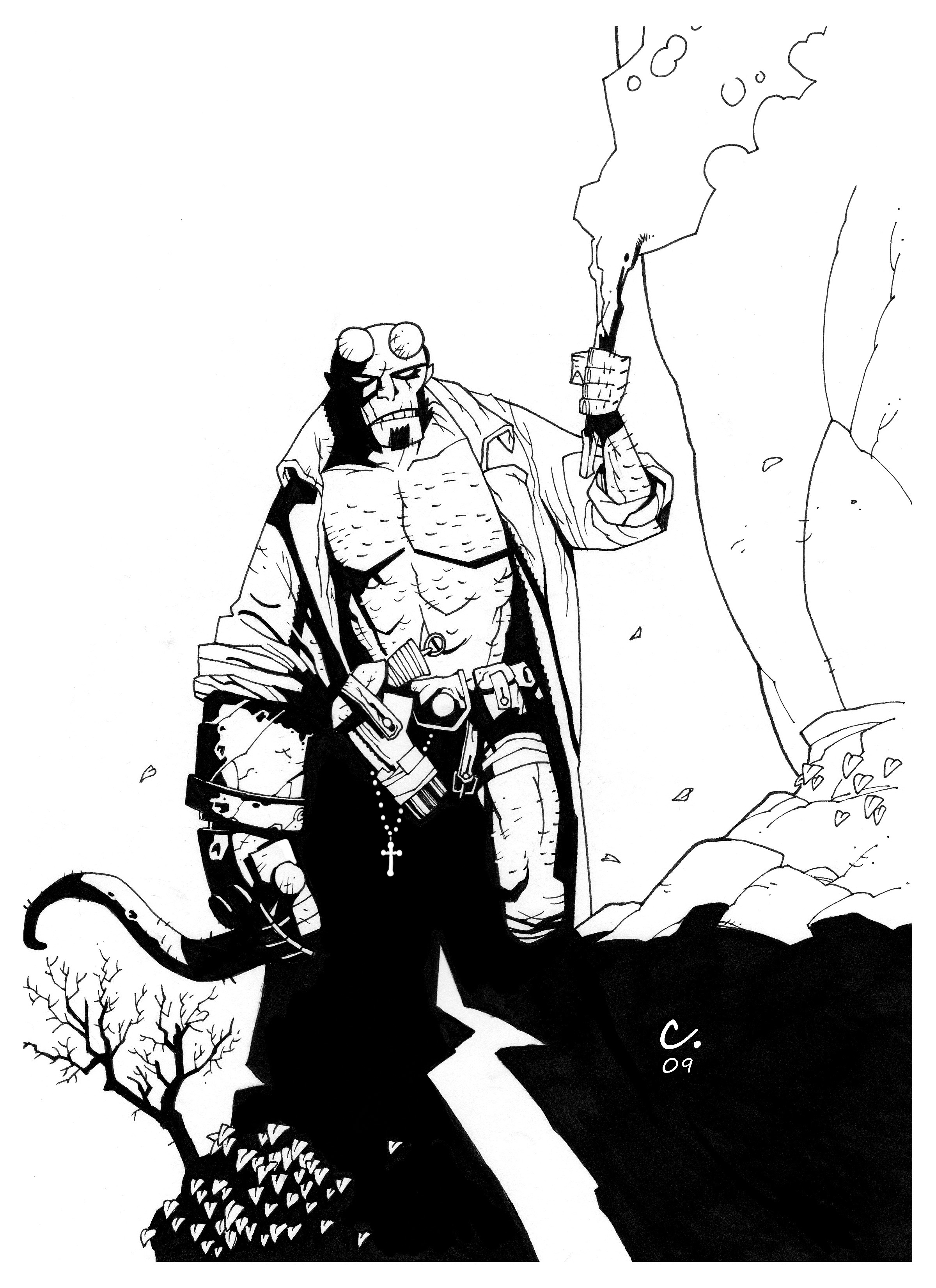 Coloring Pages Hellboy Coloring Pages coloring pages wolverine the avengers and page hellboy free printable