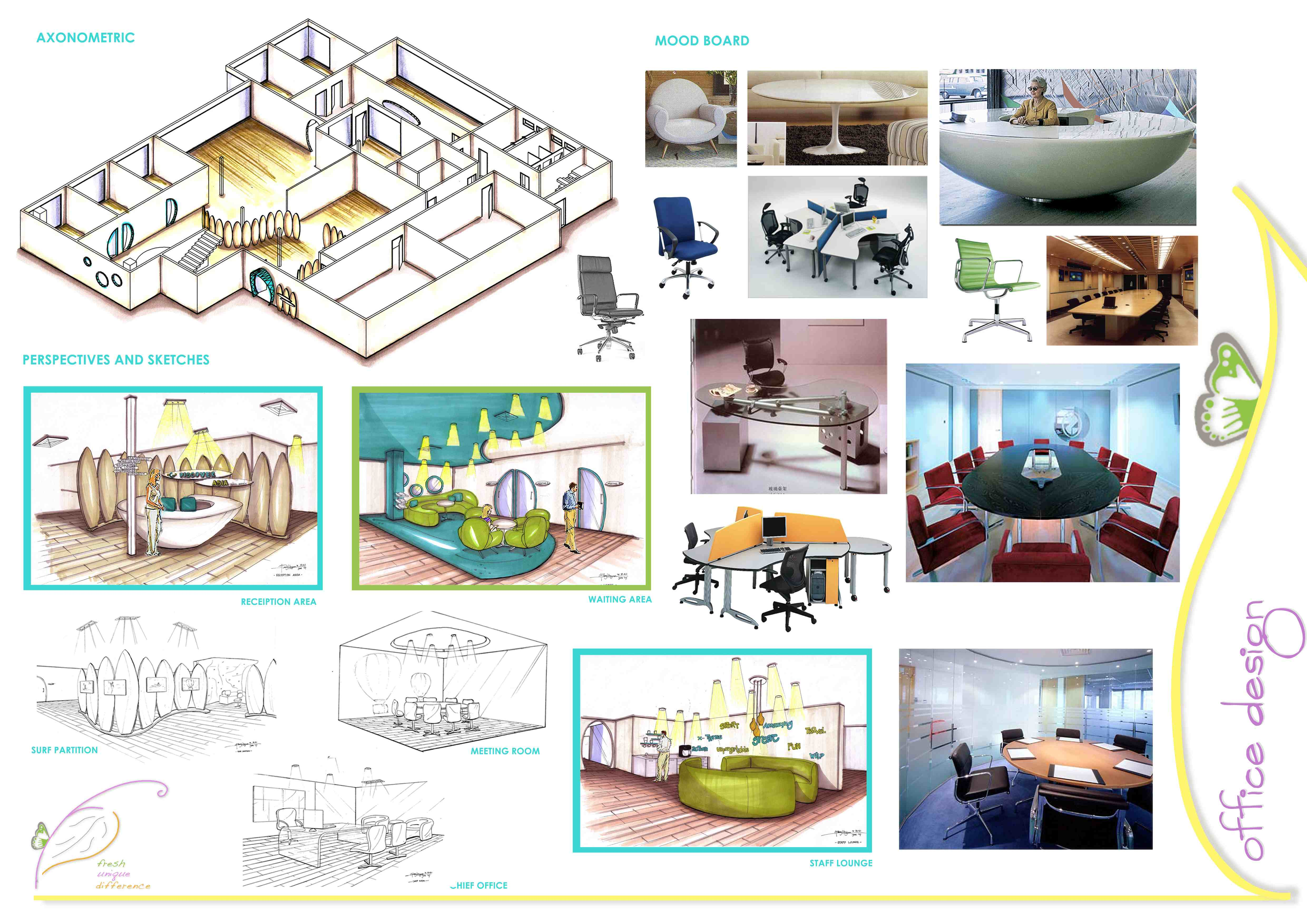 Office Design - Discover Asia - This is an Adventure Travel Agency office  that specify asia destinations only. The concept was adventure sport. so,  ...