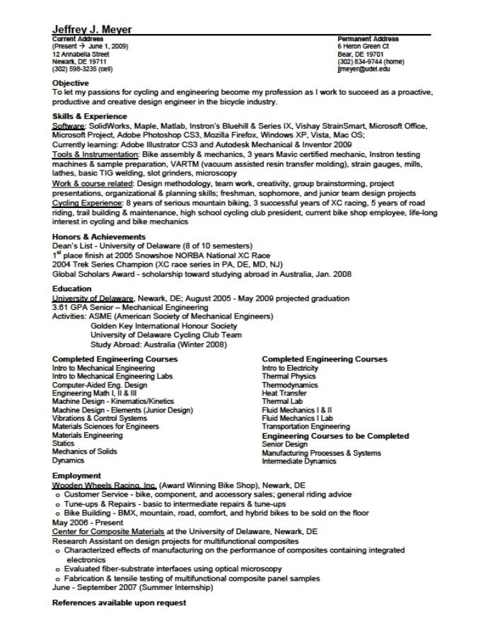 Resume For Mechanical Design Engineer,mechanical design engineer ...