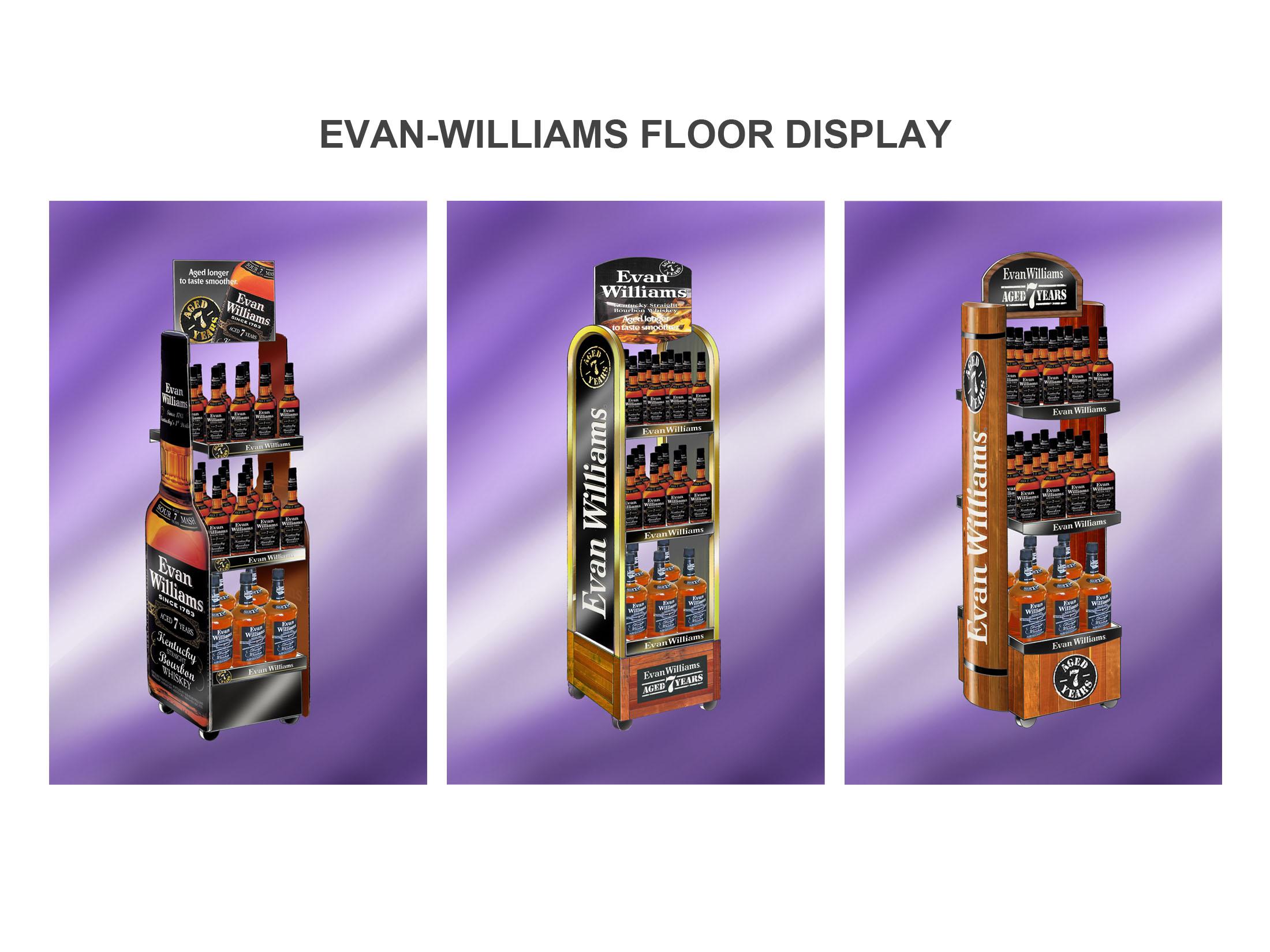 Evan Williams Floor Display