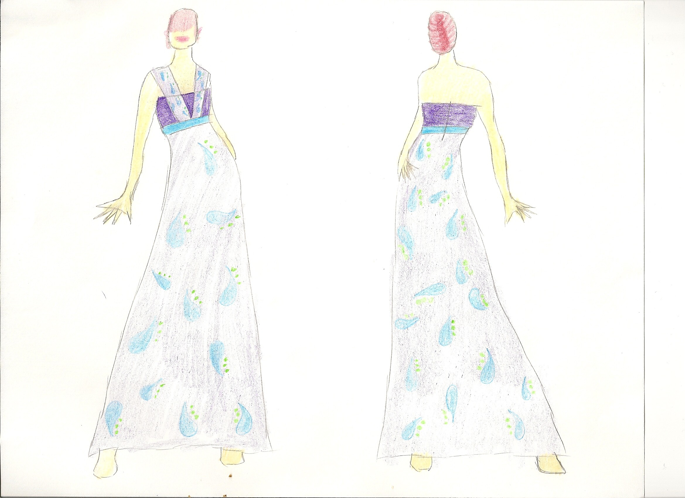pin sketches of dresses on models on pinterest