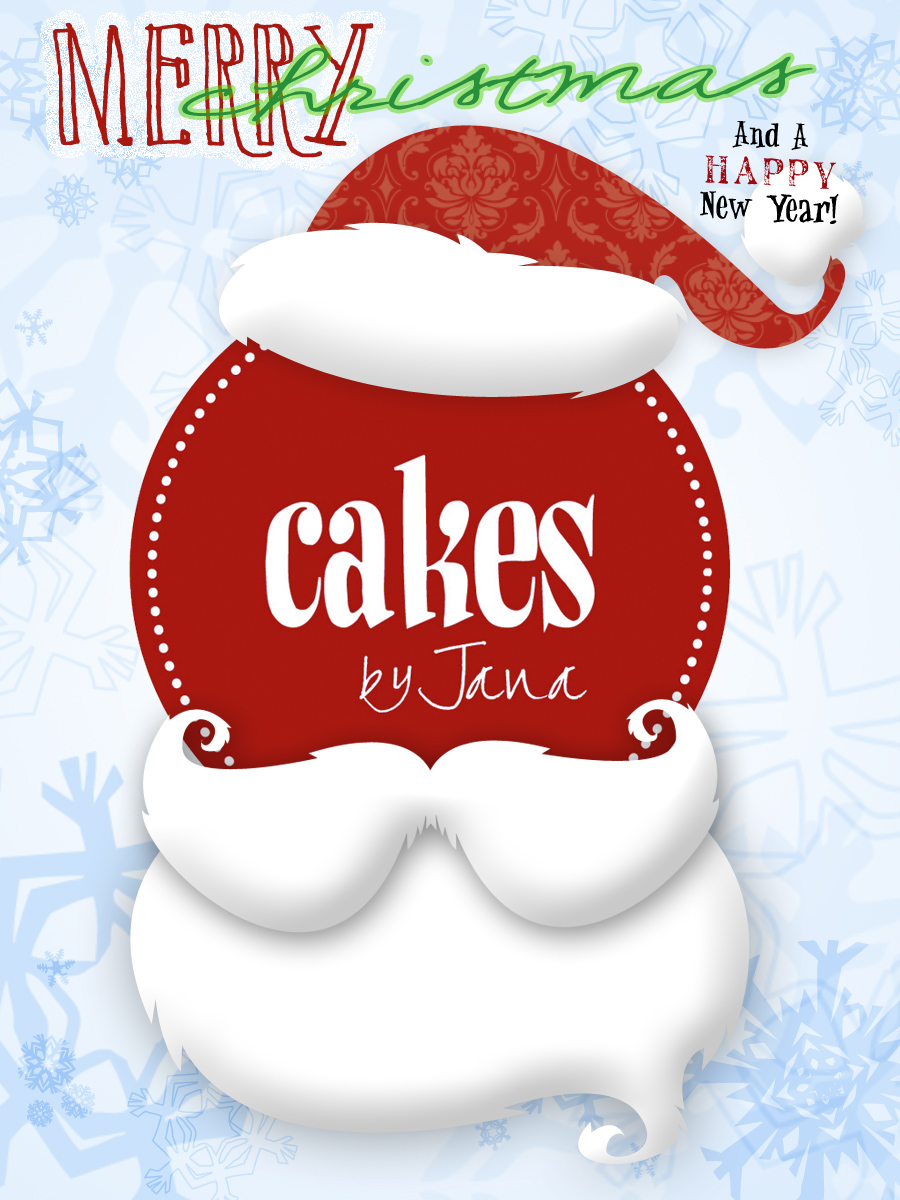 cakes by jana by jana taylor at com christmas flyer merry christmas from cakes by jana 2011