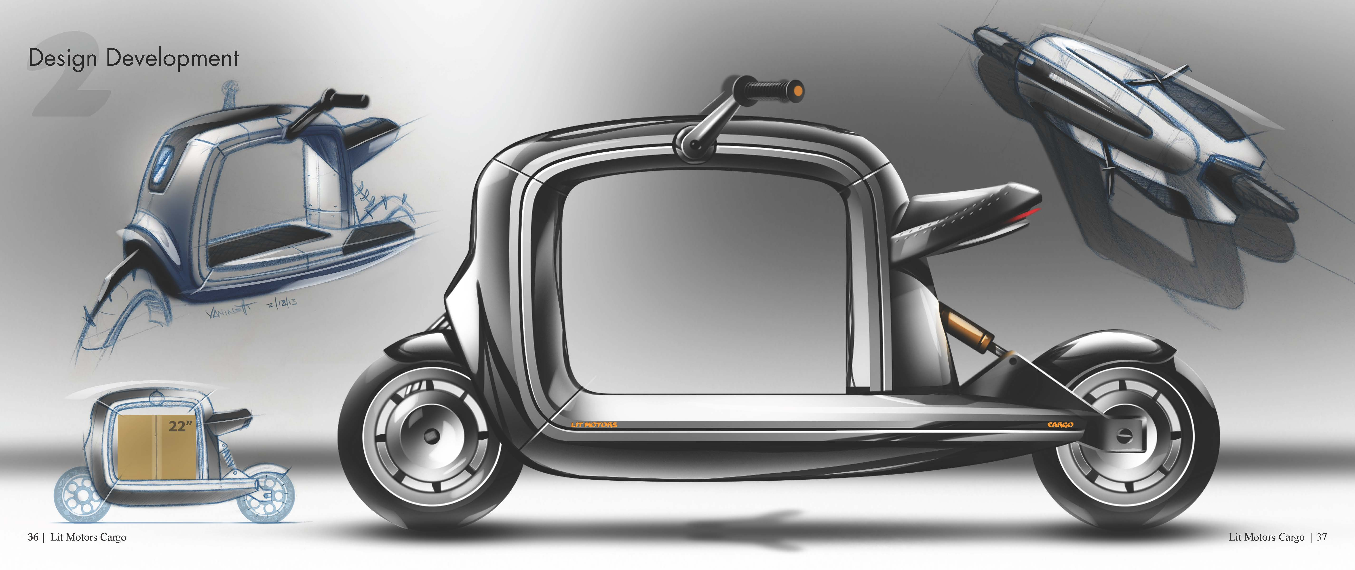 lit motors cargo scooter kubo by tj vaninetti at. Black Bedroom Furniture Sets. Home Design Ideas