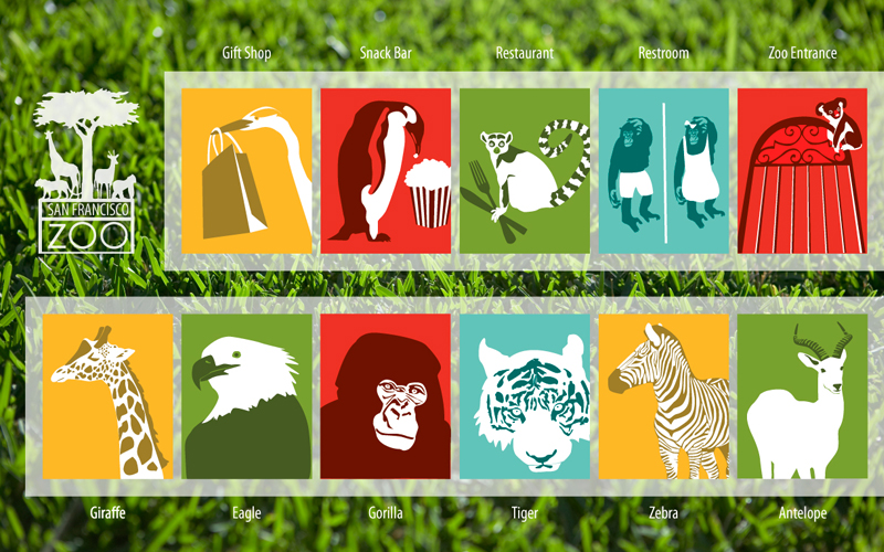 San Francisco Zoo Logo San Francisco Zoo Signage