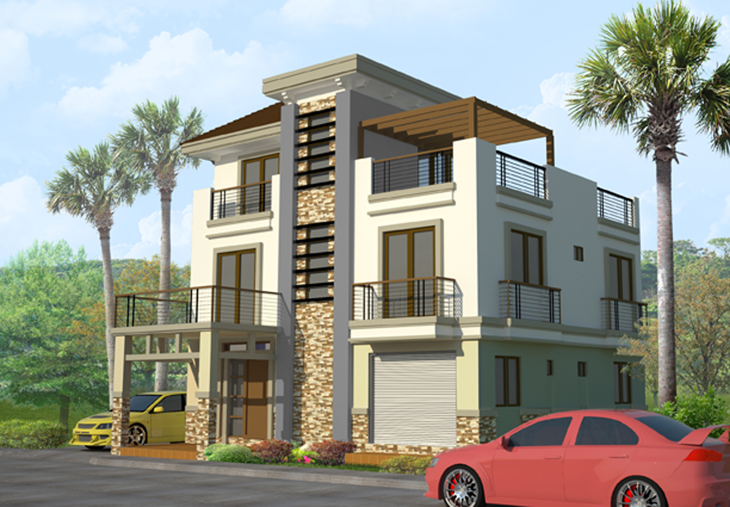 Emejing Three Storey Home Designs Gallery - Decorating Design ...