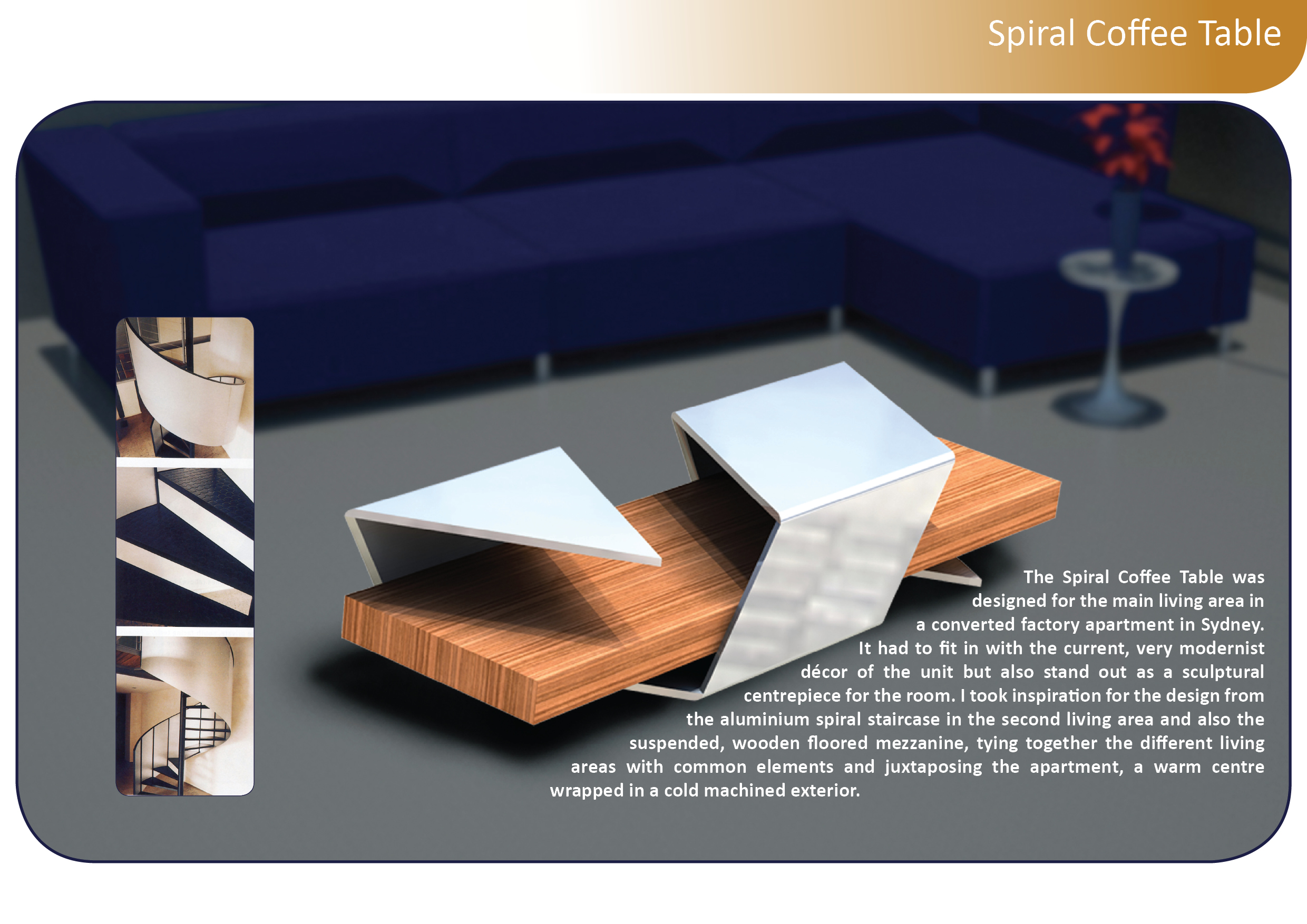 Spiral Coffee Table by Nick Wright at Coroflot.com