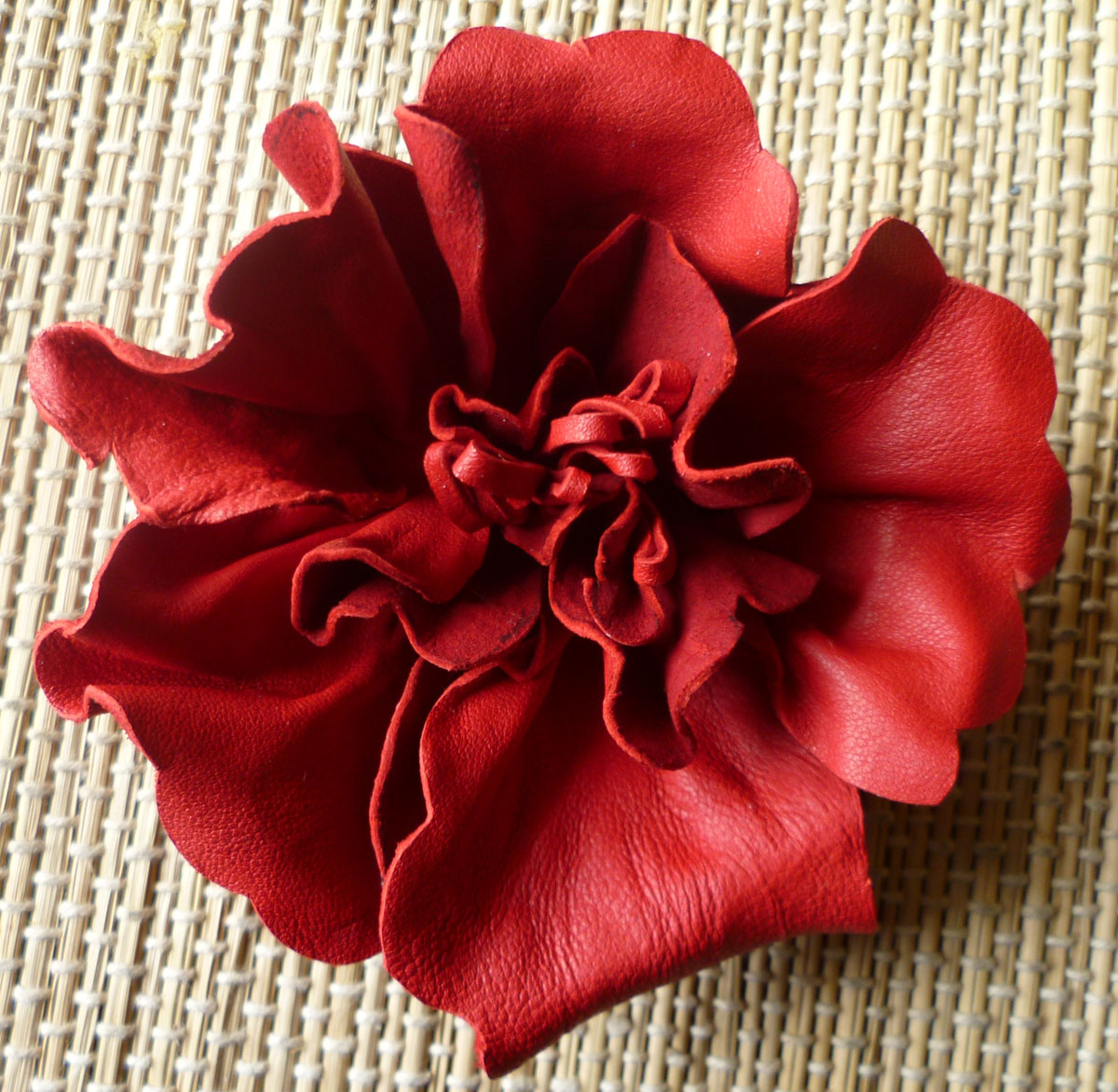 Leather flowers r n d by divya n at for Leather flowers for crafts