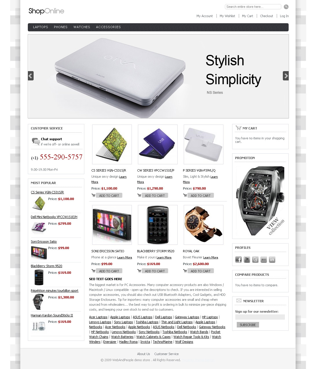 Magento Themes by WebAndPeople Design Studio at Coroflot.com