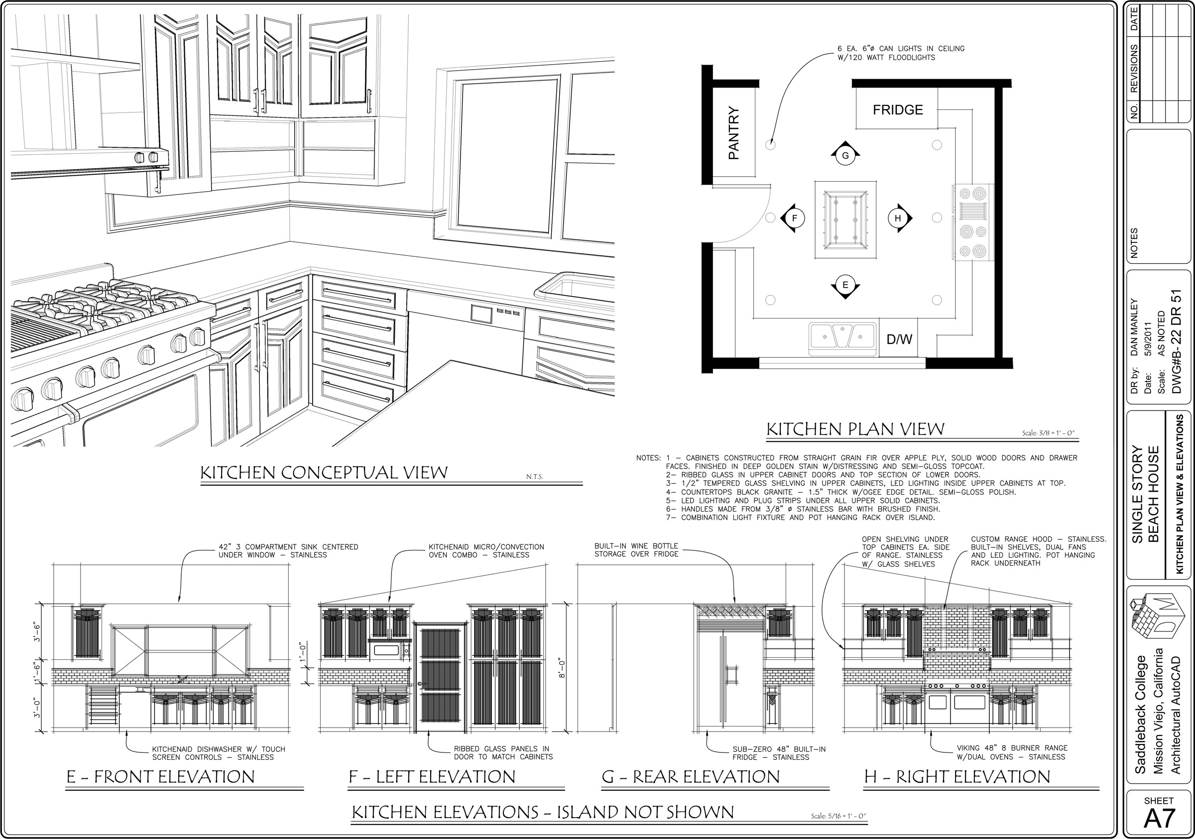 Kitchen Plan Elevation View : For more work examples please visit my site by daniel