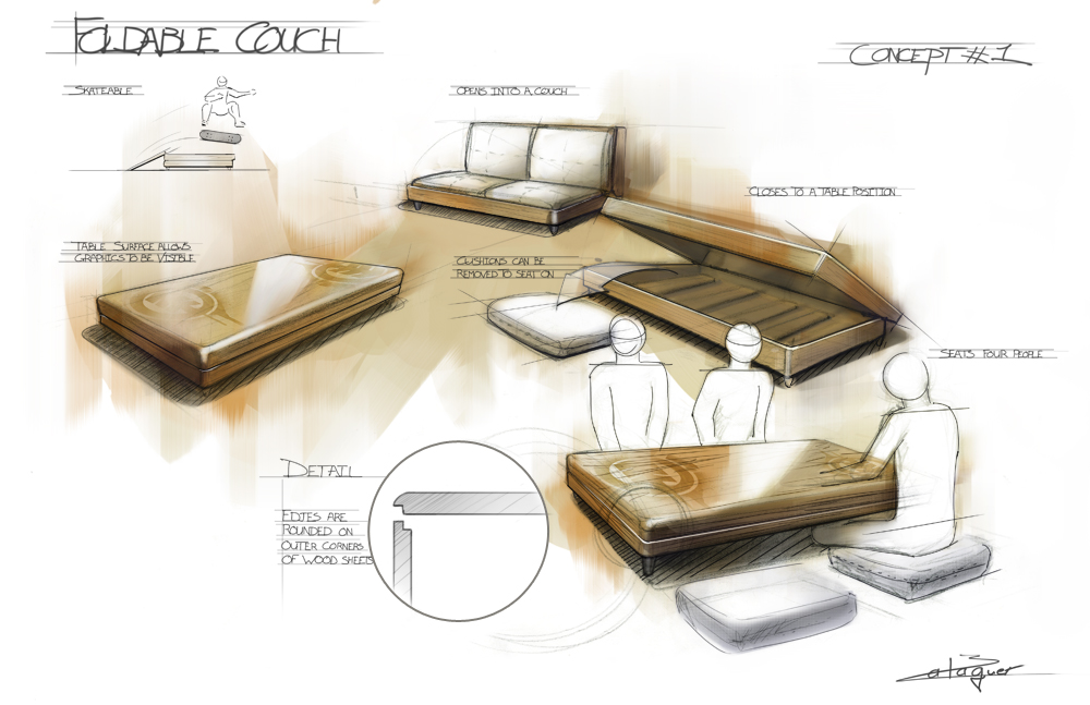 Other by thomas balaguer at for Furniture sketch design