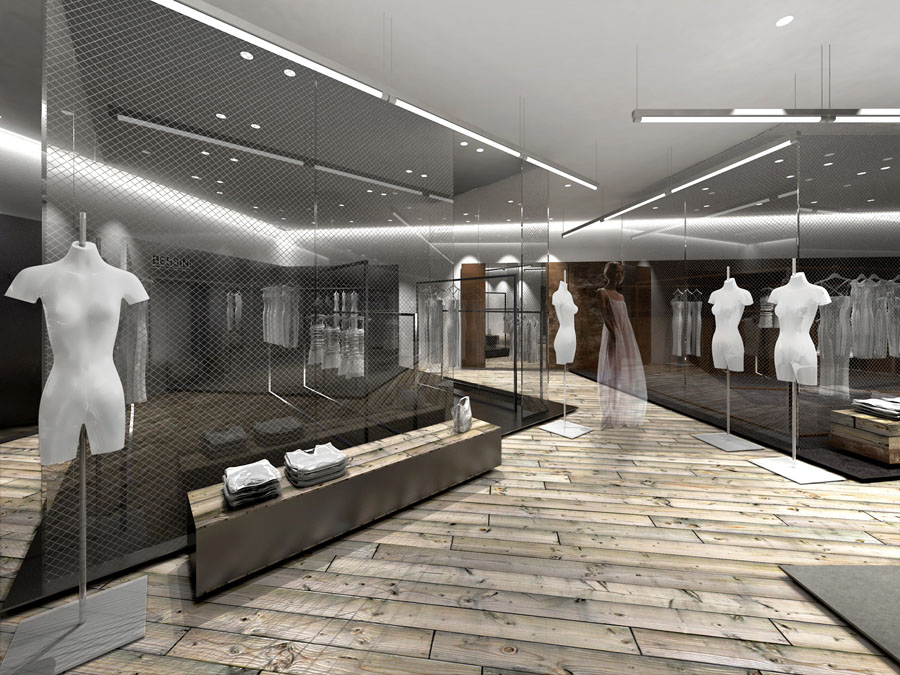 Interior by pierre francois gerard at for Fashion retail interior design