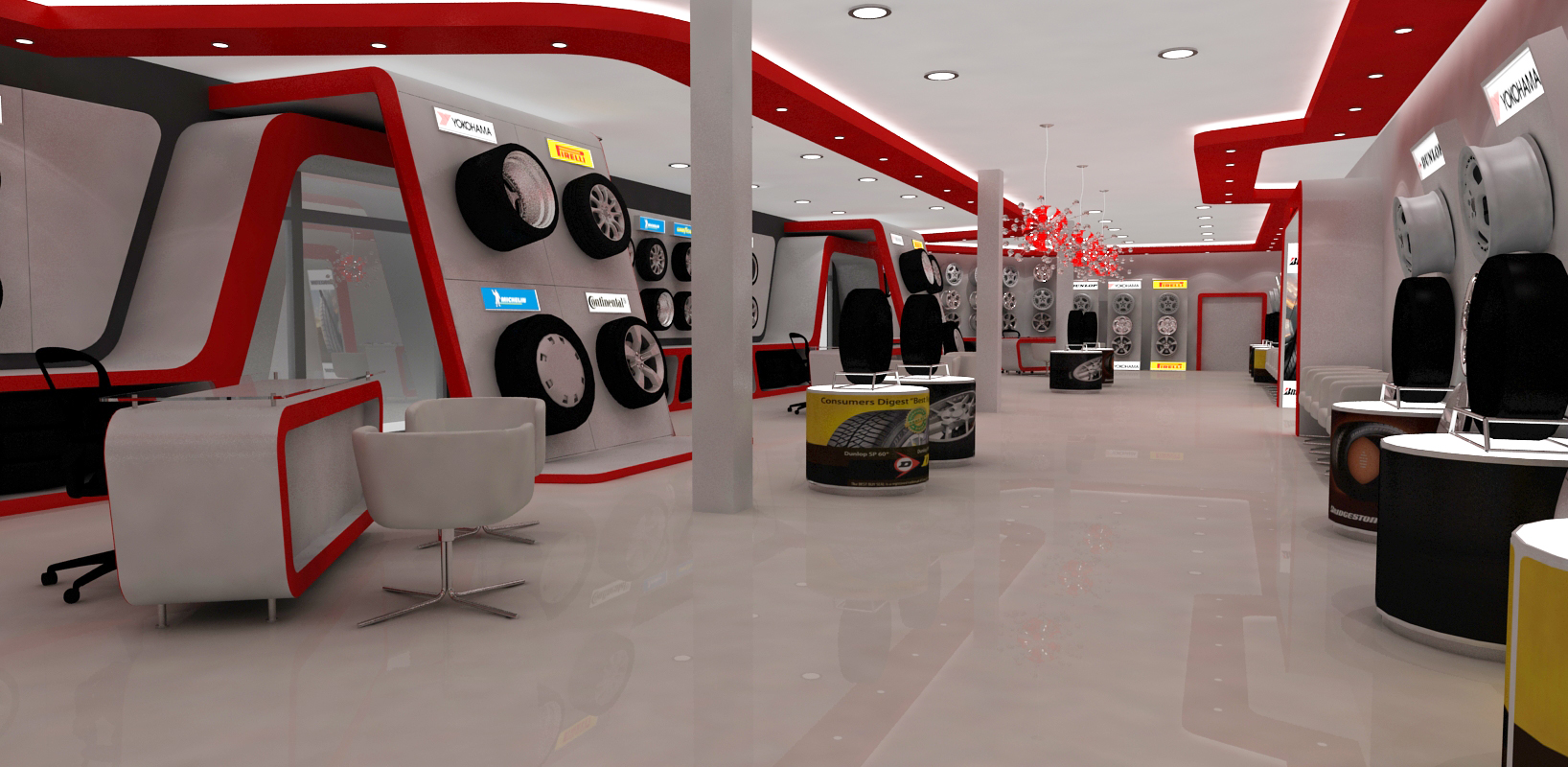 Fashion Exhibition Stand Design : Automotive tyre showroom concept by yahkoob valappil at