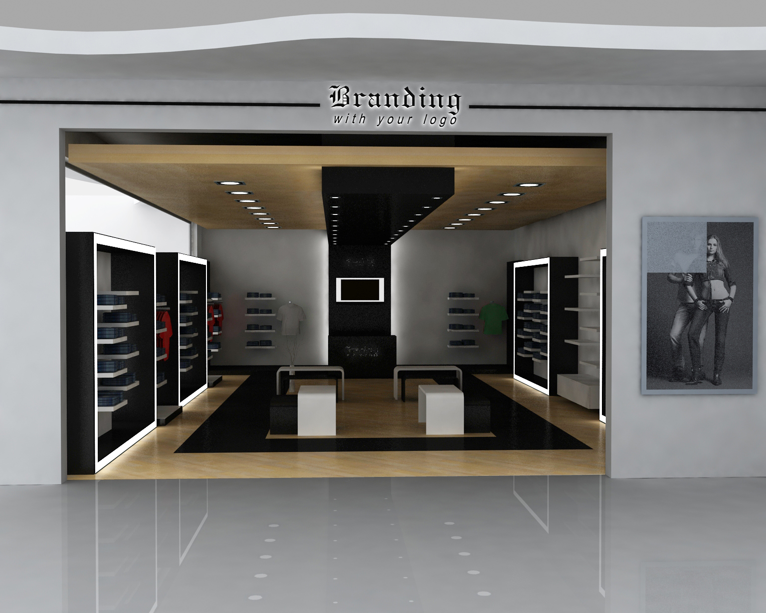 Exterior retail storefront design for Retail store interior design