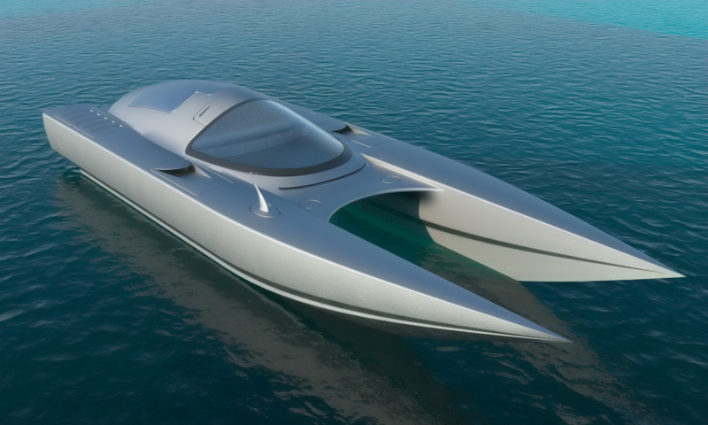 Speed Boat Design Speed boat hull - static