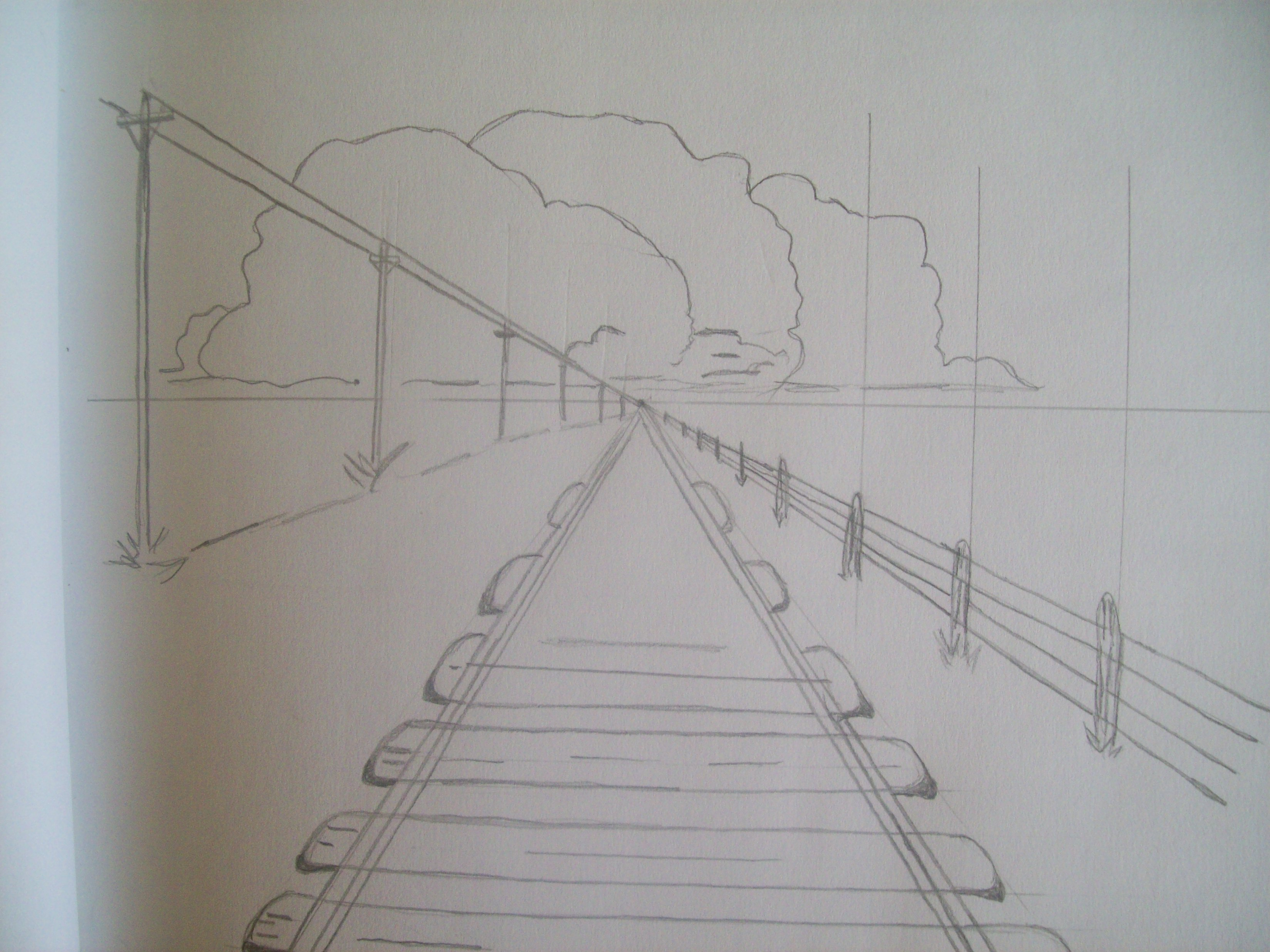 one point perspective railroad tracks Quotes