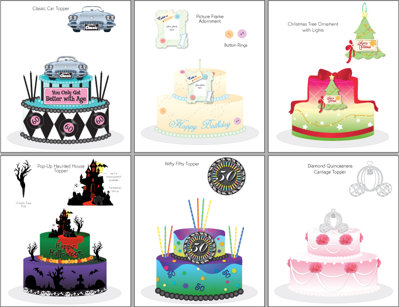 Cake Design Catalogue : Confectionery Product Design & Illustration by Pamela ...
