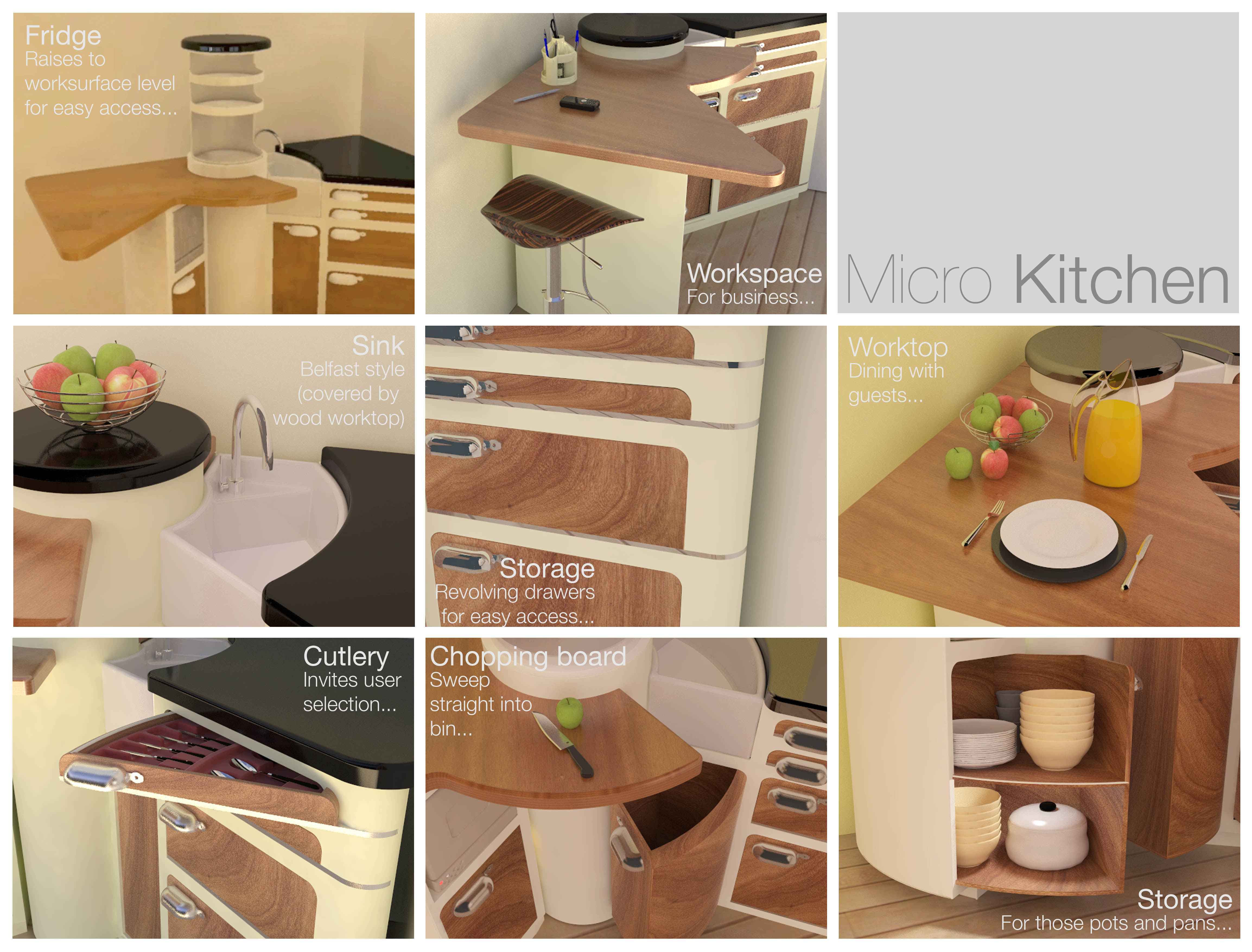 Micro Kitchen displaying ad for 5 seconds Final Micro Kitchen Features The Micro Kitchen Was Designed For A Brief Issued By Mark Wilkinson The Design Was Required To Optimise Full Use Of A