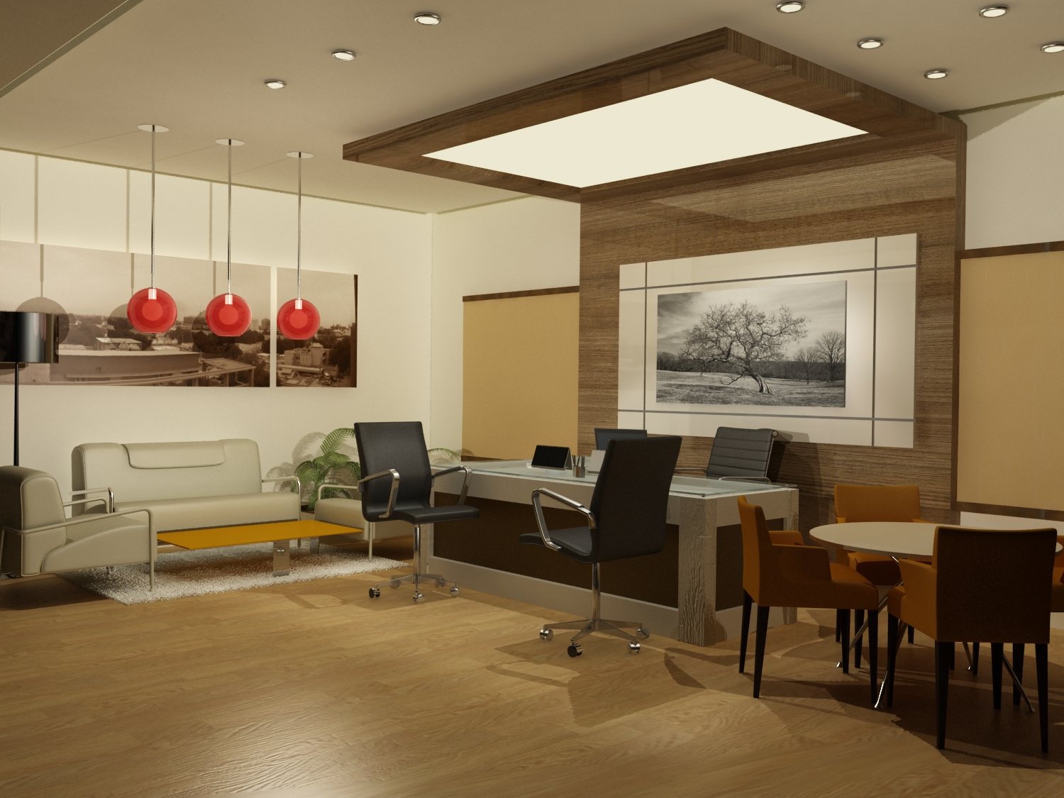 My 3d views by enas satir at for Office design 3d