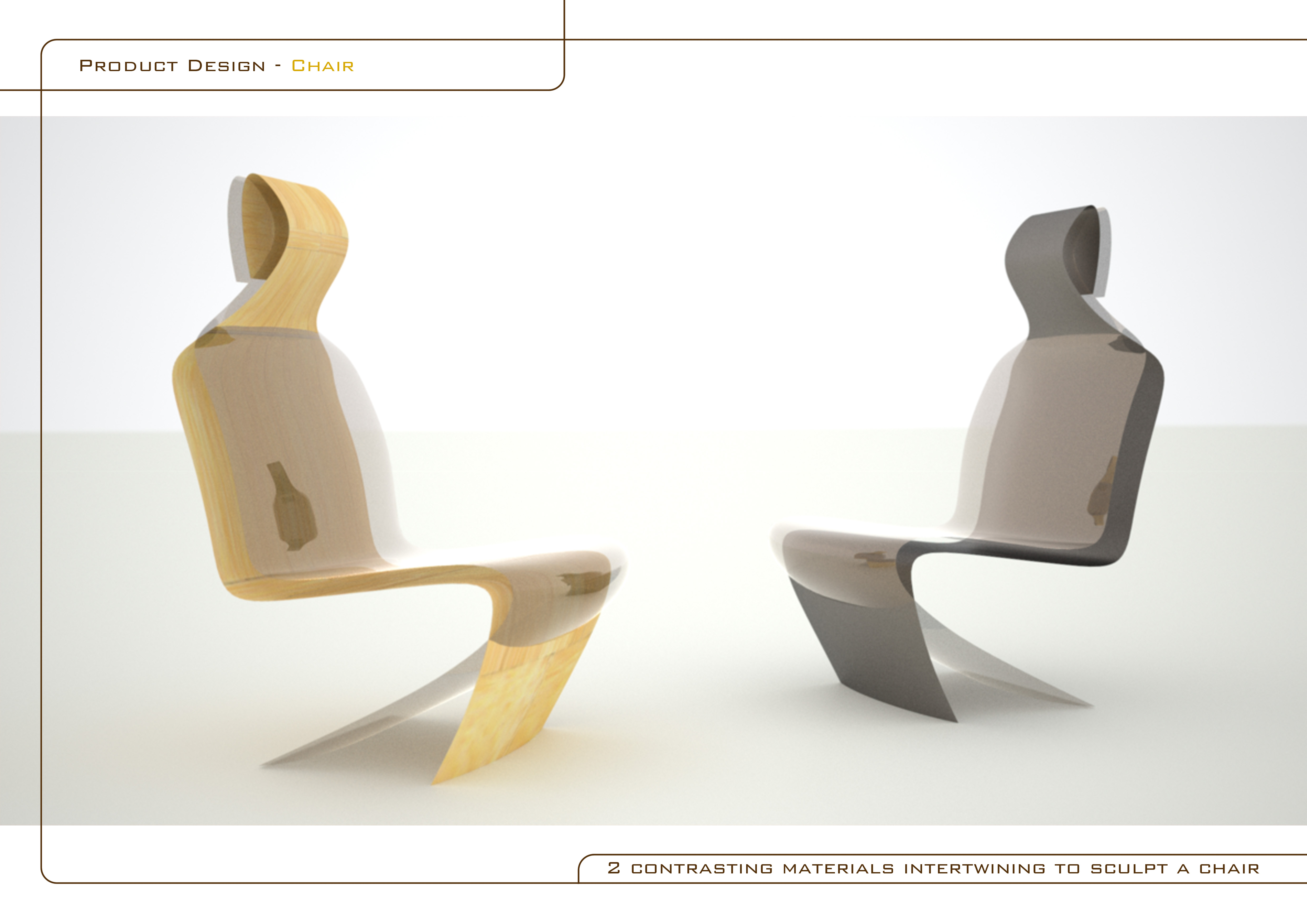 chair design by matt bradbury at coroflotcom - chair design  exploring the relationship between  contrasting pieces ofmaterial intertwining to form a dining room lounge chair