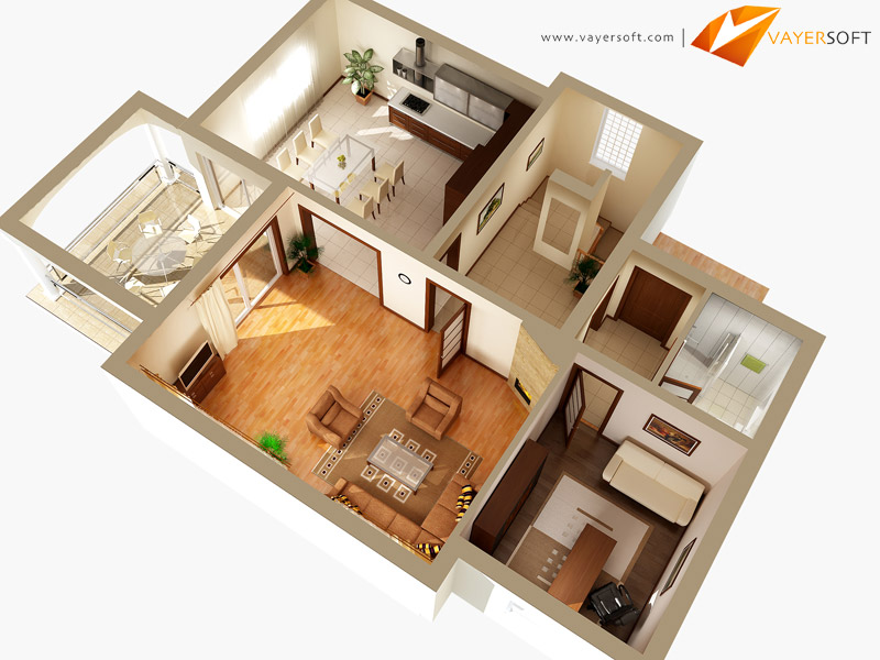 Aerial and top view 3d renderings by vayersoft get - Interior design shopping websites ...