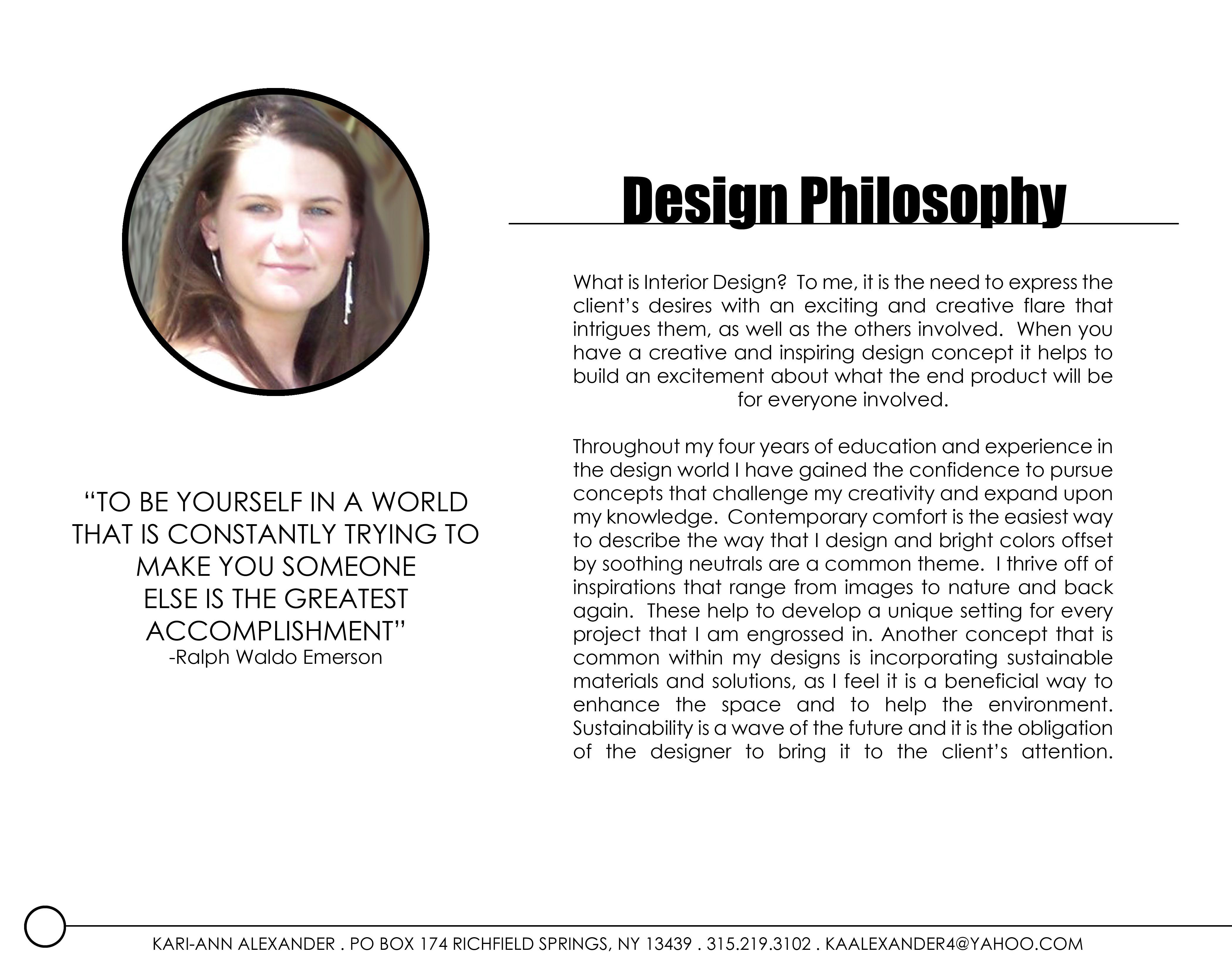Interior design portfolio by kari ann alexander at for Philosophy design