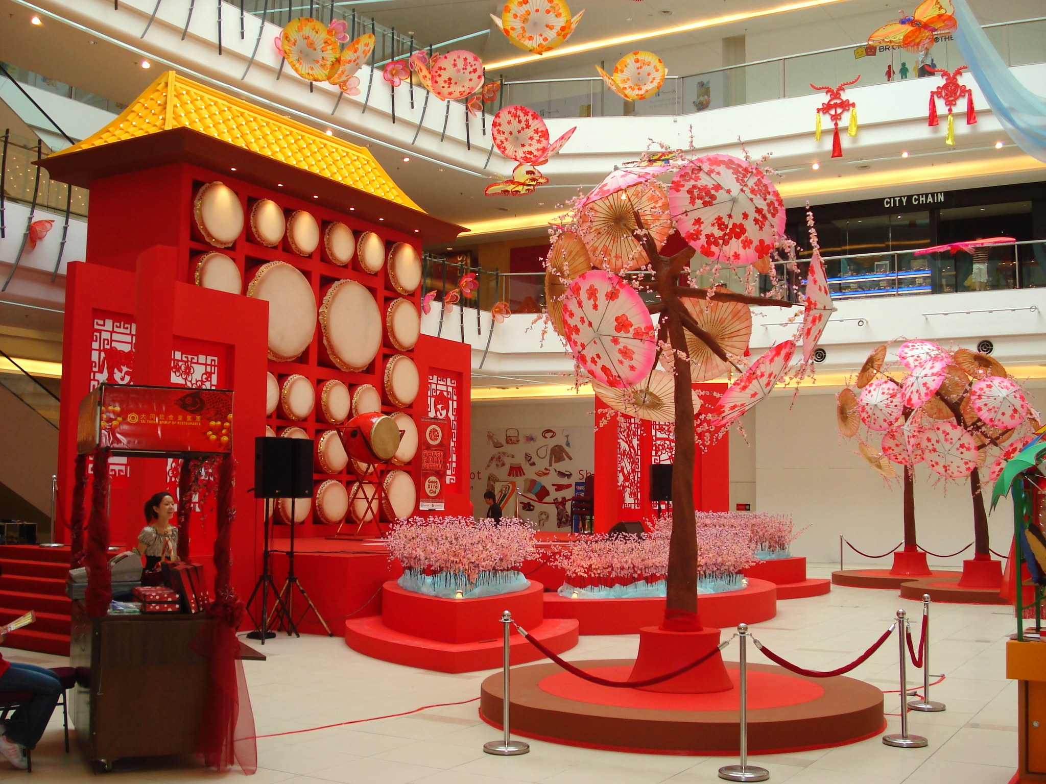 Flower drum festival by sund shan at Valentine stage decorations