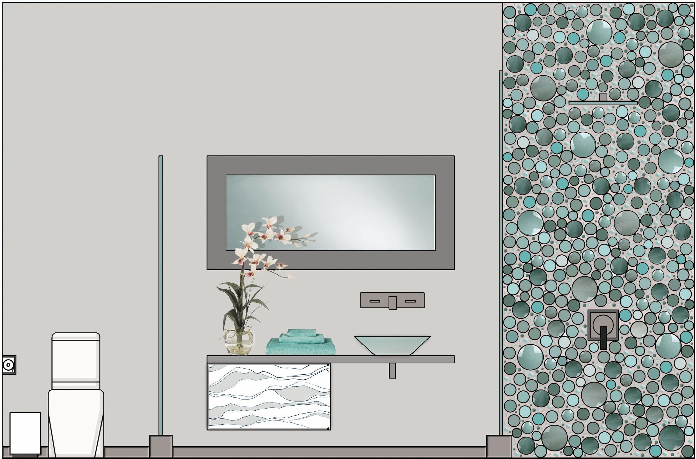 Front Elevation Of Bathroom : Project a dzhugaryan residence by knarik serobyan at