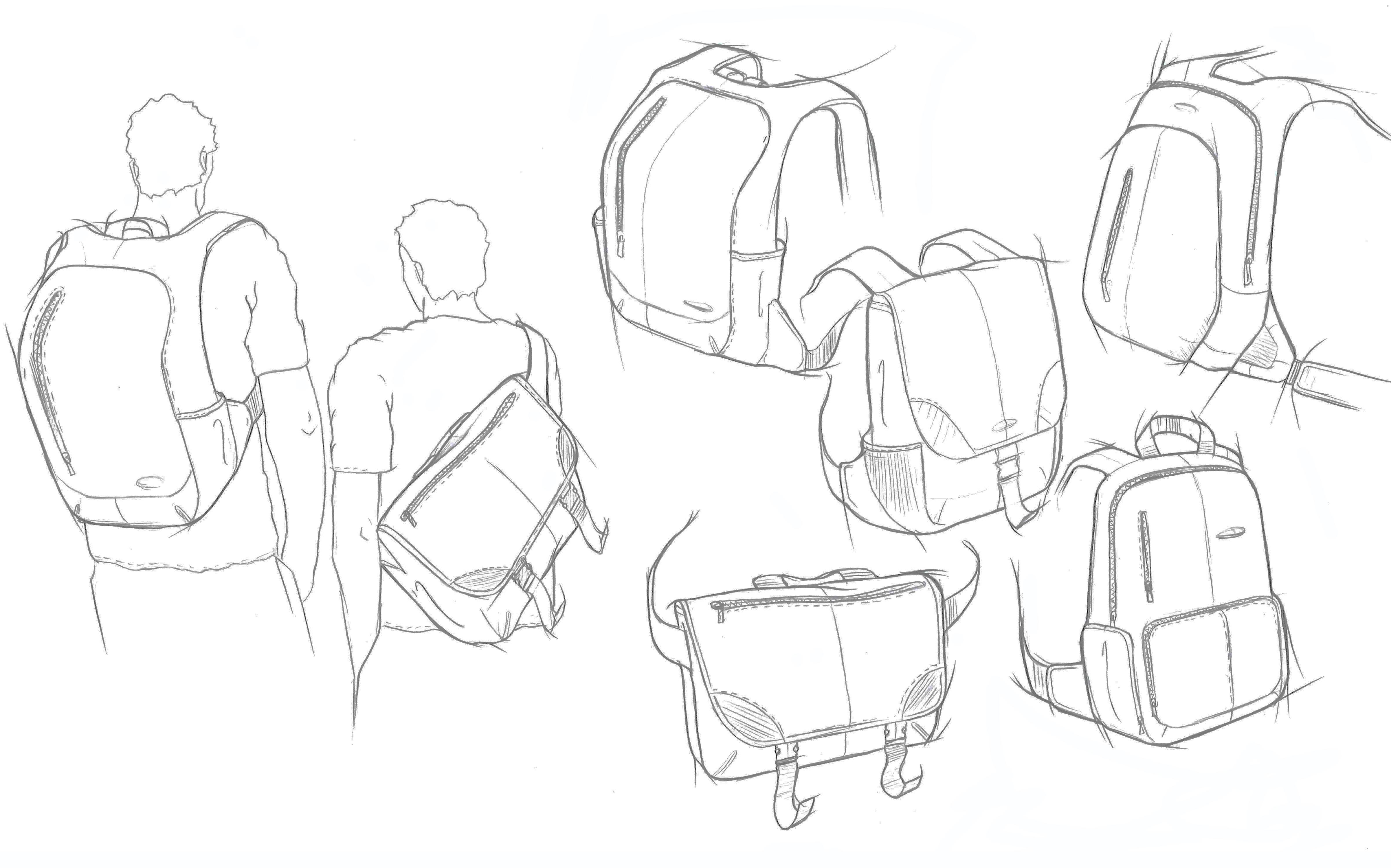 Image result for sketch of backpack