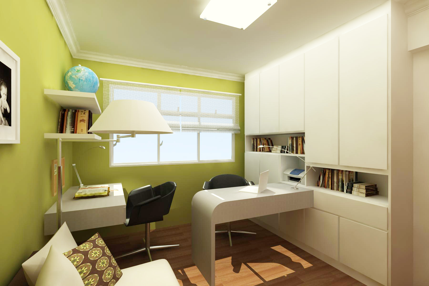 3d portfolio by fesia prawirya at for Interior designs for study room