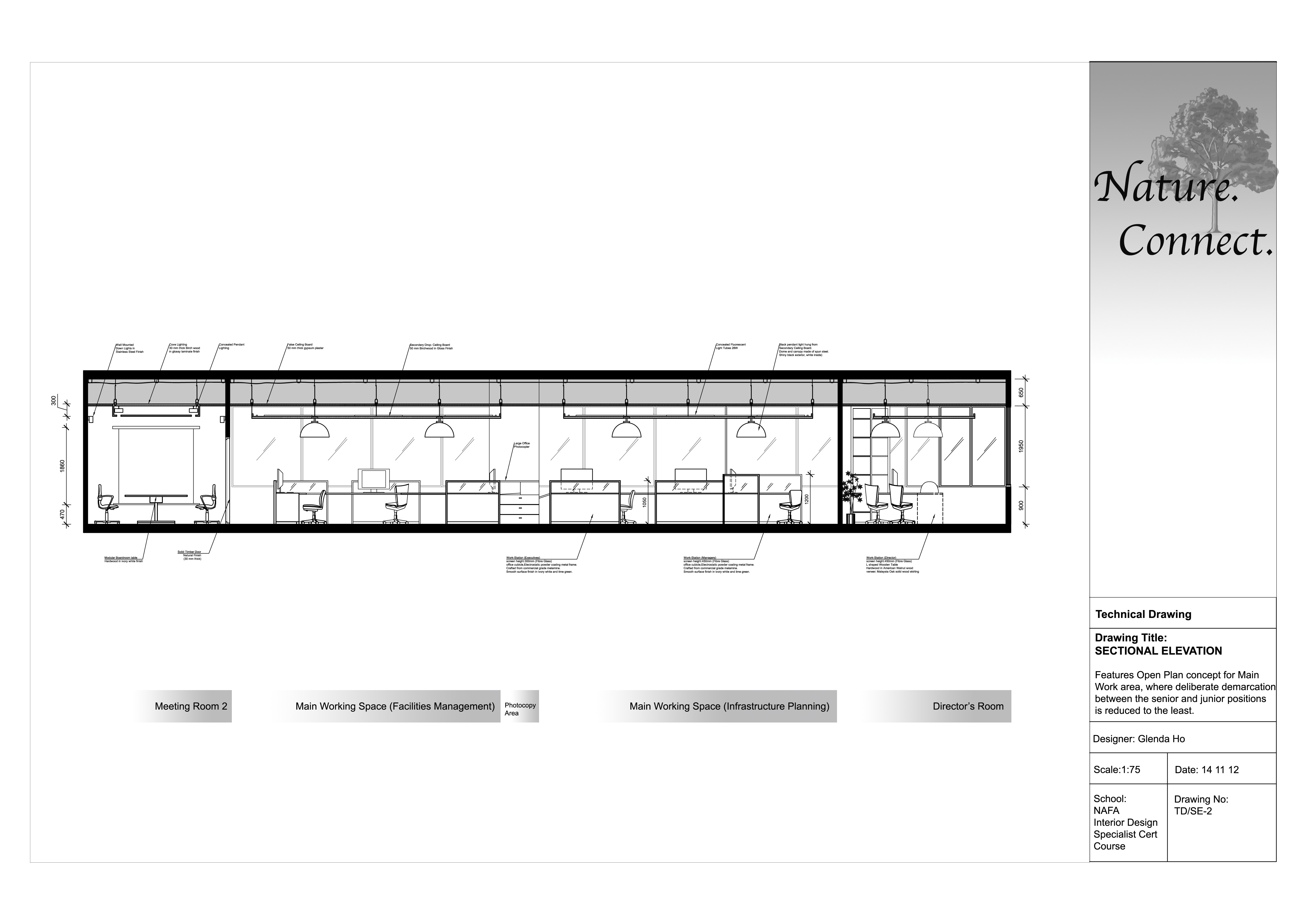 Sectional elevation 2