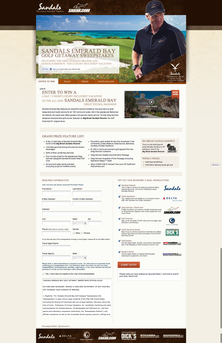 sandals big break shark com golf getaway sweepstakes by aislinn qview full size