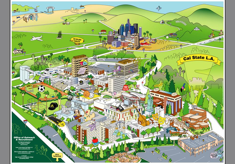 Csula Campus Map World Map 07