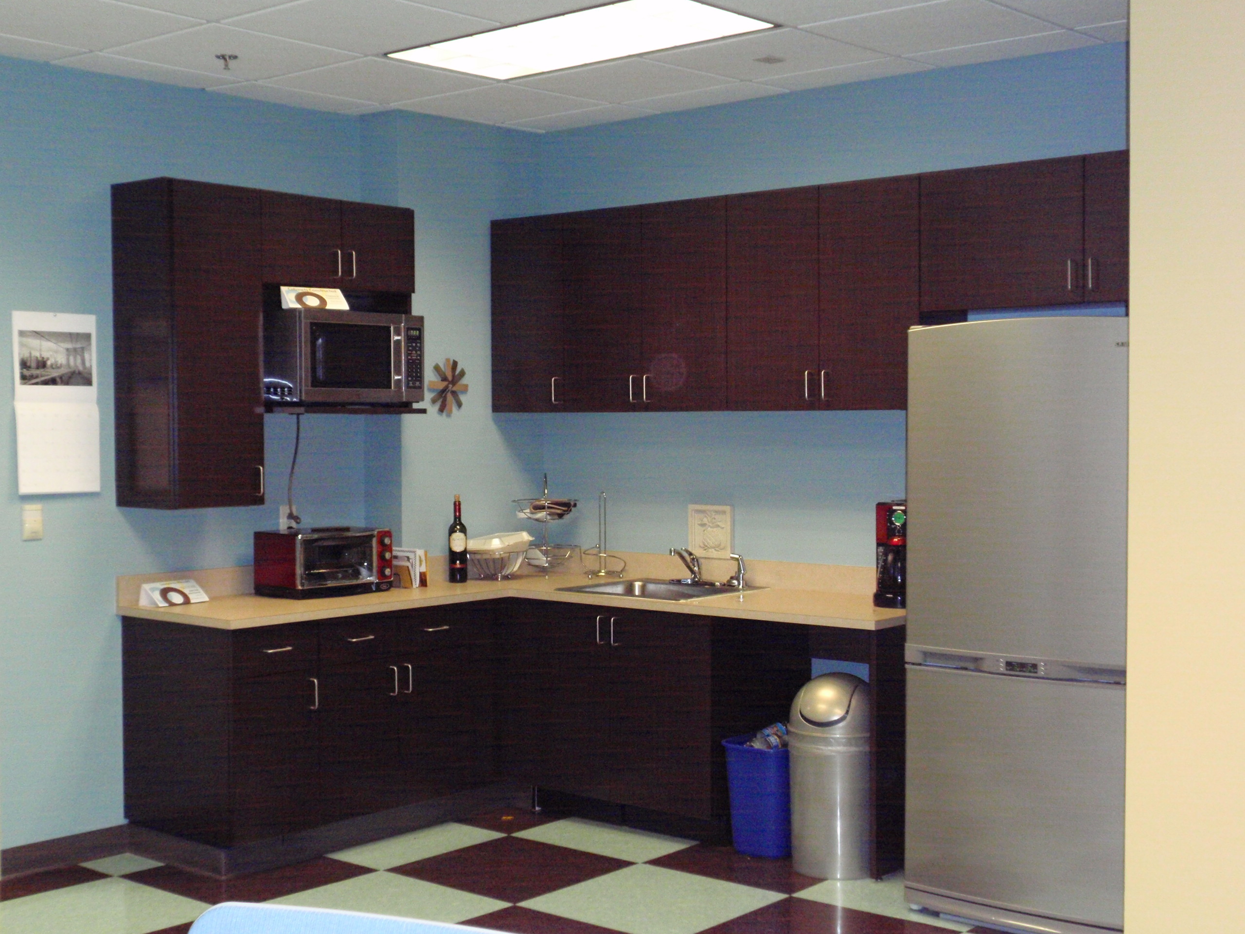 Office break room cabinets image for Home office in kitchen ideas