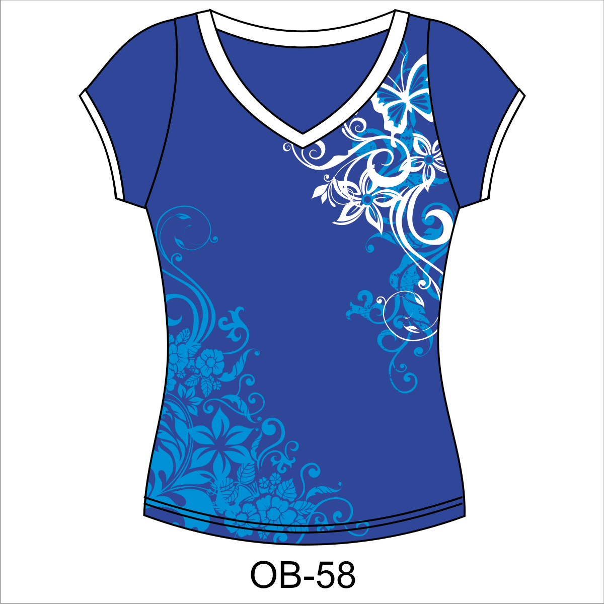 Design t shirt and print - Ladies V Neck T Shirt Design Ladies V Neck T Shirt With Large Print Design