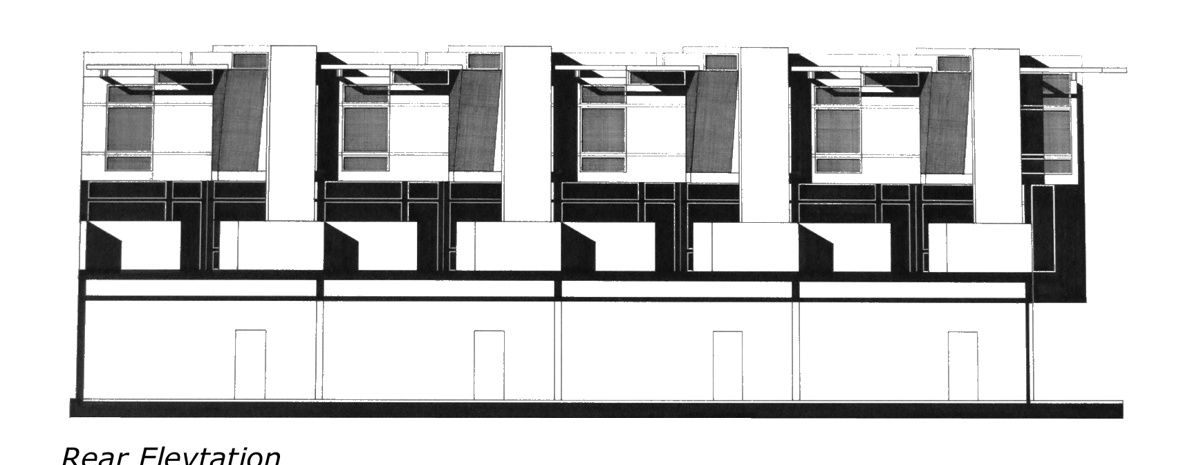 Row House Front Elevation Designs : Front elevation of row house joy studio design gallery