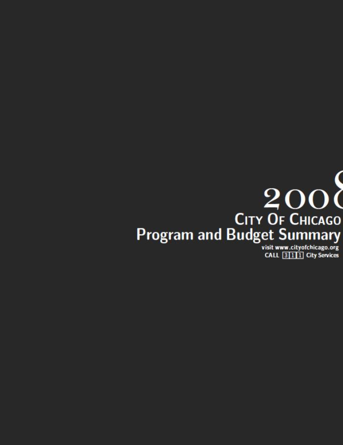 City Of Chicago Program And Budget Summary By Victor Huang