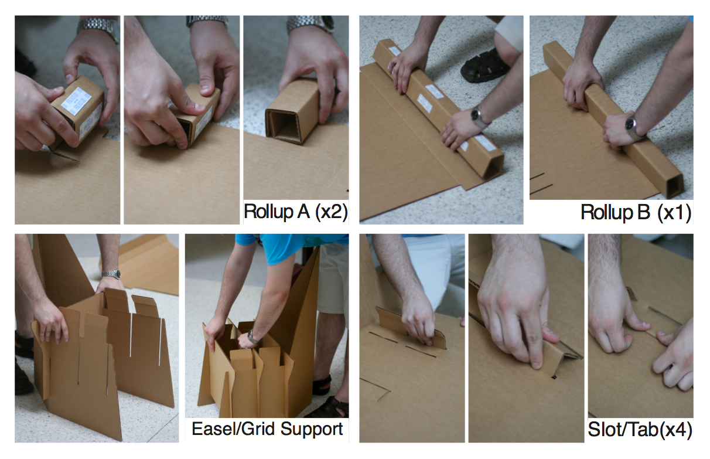 Corrugated cardboard furniture - Assembly Instructions For Corrugated Cardboard Chair For Conventions