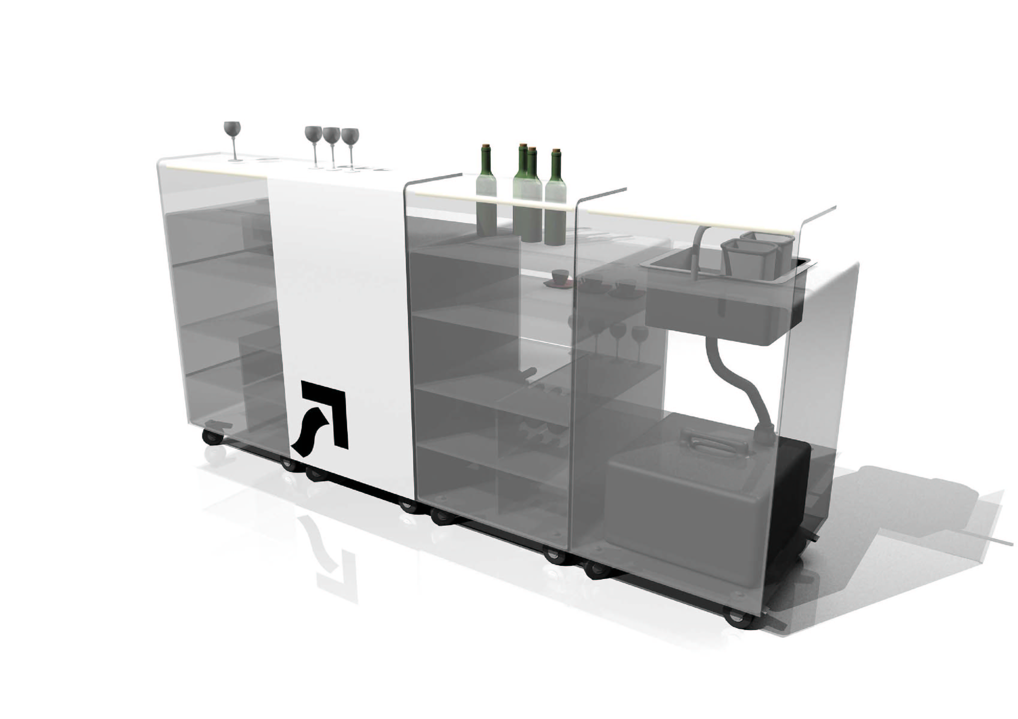 Portable bar designs for homes - Home decor ideas